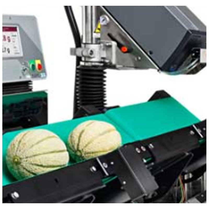 Round products labeller