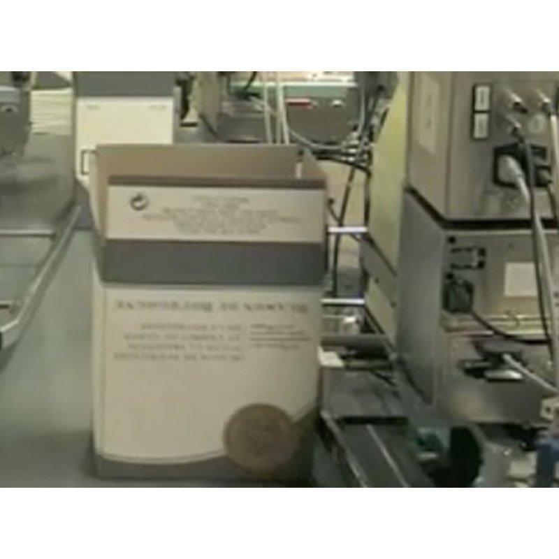 Stamp on label application